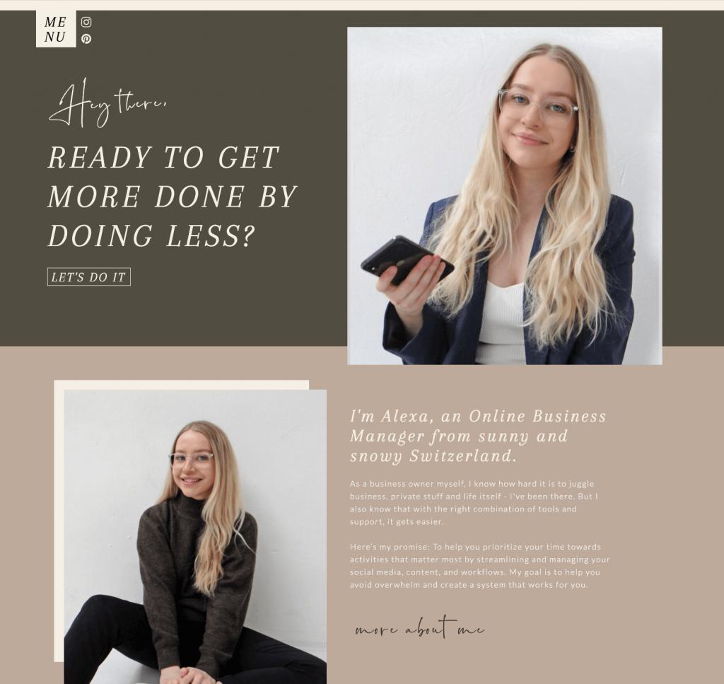 Alexandra Myllaeri - Home Page - Before
