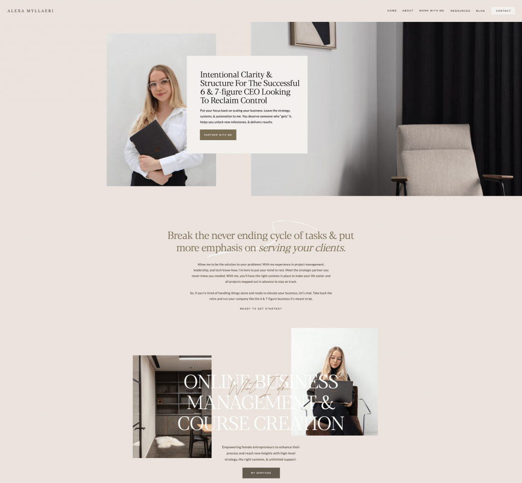 JOUHCO - Alexandra Myllaeri - Home Page - After Hero Section