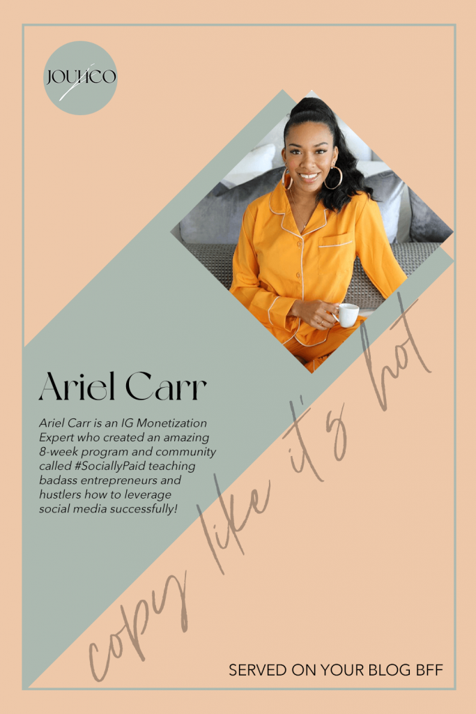 JOUHCO - Copy Like It's Hot - Ariel Carr - SociallyPaid