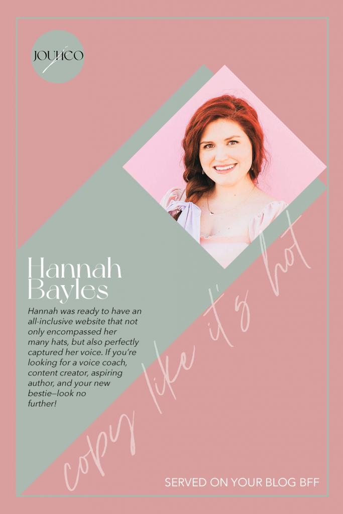 JOUHCO - Copy Like It's Hot - Hannah Bayles