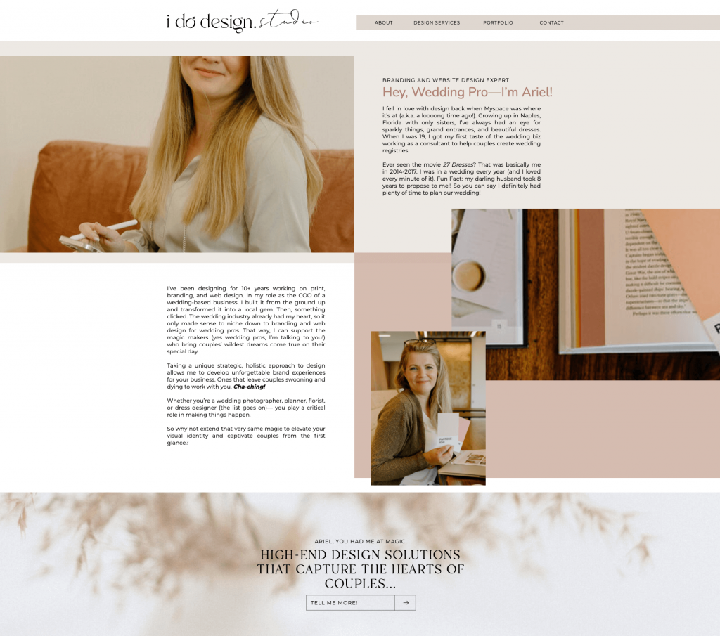 I Do Design Studio - About Page - Excerpt